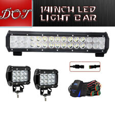 14inch 90W Dual Row LED Light Bar Combo Beam Driving For SUV BWM 15""
