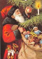 Santa Claus making a Christmas Tree Bag of Gifts Merry Christmas