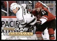 2019-20 UD Series 1 Canvas Young Guns #C98 Carl Grundstrom - Los Angeles Kings