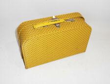 Schöner alter Puppenkoffer 24 x 15 x 7,5 cm Gelb Vintage Koffer Kinderkoffer !