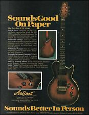 Aria Pro II PE-1000 electric guitar original 1979 advertisement 8 x 11 ad print