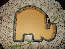 Vine Tique USA Med Elephant Shaped wood Bottomed Tray/Basket Great Condition