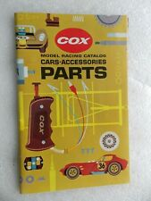 Cox Model Racing Catalog Cars Accessories Parts (vintage, not dated)