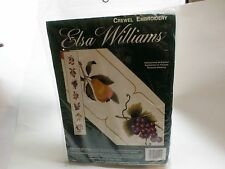 Elsa Williams Crewel Embroidery Orchard Bellpull Sealed New Old Stock