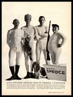 1960 Mayo Spruce Thermal Underwear Hunters In Long Johns Basset Hound Print Ad