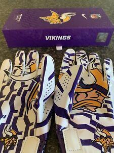 NFL Vikings Nike Gloves Vapor Fly On Field Skill Gloves Pro Authentic