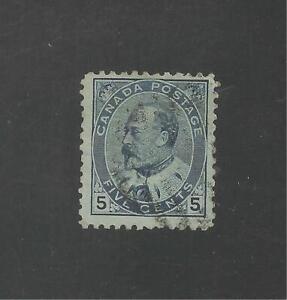 Canada #91 (A34) FVF USED - 1903-08 5c King Edward VII