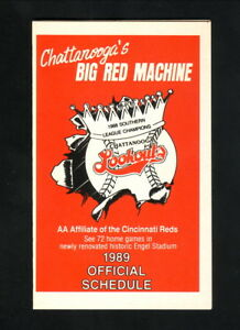 Chattanooga Lookouts--1989 Pocket Schedule--Hardee's--Reds Affiliate