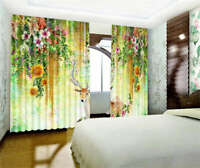The Elk In The Flowers 3D Curtain Blockout Photo Printing Curtains Drape Fabric