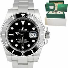 2019 MINT UNPOLISHED Rolex Submariner Date 40mm Stainless Black Ceramic 116610