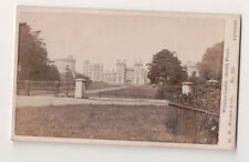 Vintage CDV  Windsor Castle South Front G.W. Wilson Photo Aberdeen
