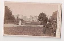 Vintage CDV  Windsor Castle South Front G.W. Wilson Photo Aberdeen