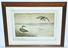 Leonid Danchin Signed Color Etching of Ducks