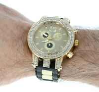 Men's Iced Lab Diamond Luxury Bezel Silicone Band GP Milano Expressions Watch