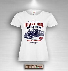 T-Shirt Einzelheiten Großartig Lkw Fernfahrer Amerika Sommer Mode Schlank UOMO