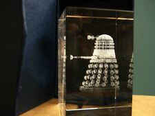 DR WHO LASER ENGRAVED CRYSTAL PERSONALIZED DARLEK OR K9 ADD YOUR OWN MESSAGE 3