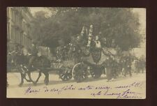 France Alpes-Maritimes ANTIBES festival? decorated horse cart 1906 PPC