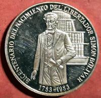 Venezuela 100 Bolivares 1983 Plata 200 Aniv. Simon Bolivar  @ PROOF @