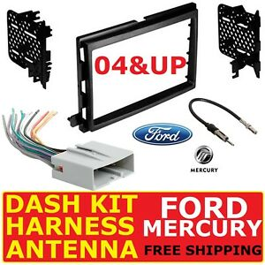 2004 &UP SELECT FORD MERCURY CAR RADIO STEREO INSTALLATION DASH KIT-HARNESS-ANT.