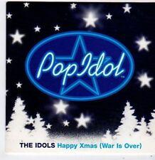 (FG983) Pop Idol, The Idols - Happy Xmas (War is Over) - 2003 DJ CD
