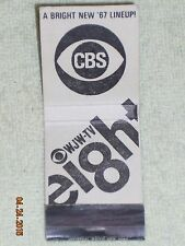 Vintage CBS for Northern Ohio WJW-TV Eight Bright New 67 Matchbook NOMATCH HEADS