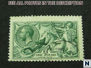 NobleSpirit (TH2) Popular GREAT BRITAIN No. 176 £1 Seahorse F-VFU =$1,550 CV!