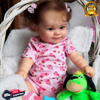 "Reborn Baby Doll 20"" Lifelike Newborn Smiley Girl Vinyl Unpainted unfinished DIY"