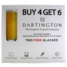 Dartington Crystal Pack of 6 Highball Glasses 400ml
