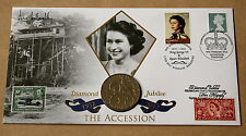 QUEEN'S DIAMOND JUBILEE 2012 BUCKINGHAM COIN COVER SIGNED BY BARONESS WILLOUGHBY