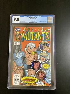 New Mutants #87, CGC 9.8 White Pages, First Appearance Of Cable