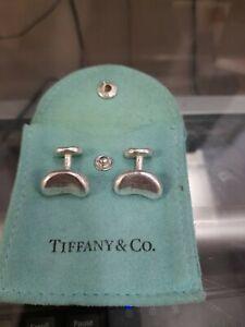 Tiffany & CO. Elsa Peretti bean cufflinks, sterling silver 925
