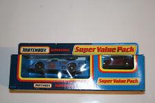 Matchbox Superkings Super Value Pack Kremer Porsche CKS & Super GT Escort RS2000