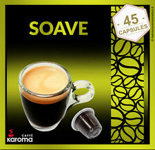45 Capsules Compatible NESPRESSO Pods NEW! (SOAVE) A Roasters Masterpiece