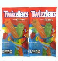 Twizzlers Rainbow Twists Lot 2 Candy Raspberry Melon Lemon Chewy Licorice Candy