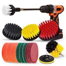 Drill Brush Set, Extend Long Attachment, Scrub Pads, Sponge, Power Scrubber R1N9