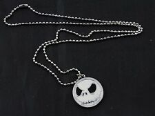 COLLANA CIONDOLO NIGHTMARE BEFORE CHRISTMAS BIANCO CATENA PALLINE 58 cm
