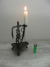 antique Candlestick Rushlight wrought light Candle Alpine Candle Holder LEUCHTE