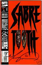SABRE TOOTH #1  Signed by Mark Texiera (COA) (vf)