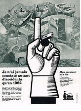 PUBLICITE ADVERTISING 034   1963   PREVENTION ROUTIERE     assurance-auto