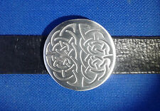 Belt Buckle Celtic Metal Weave Genuine Pewter Mens Kilt Gothic FREE UK POST