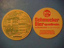 Vintage Beer Brewery Coaster ~*~ Privat-Brauerei Schmucker ~ GERMANY Since 1780
