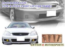 TR-Style Front Lip (Urethane) Fits 99-00 Honda Civic 2dr