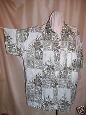 Men's Cool Vtg. Rayon Hawaiian Shirt: Fiddlehead Ferns