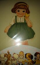 *Party Favors* Korean Afrocat Paper Doll Mate Lg HQ Thick Mouse Pad ~Green SELLY