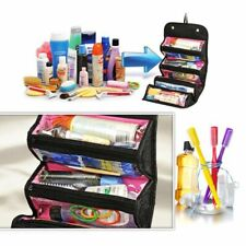 Roll Up Toiletry Wash Bag Cosmetic Makeup Case Womens Mens Hanging Organizer New