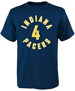 Indiana Pacers NBA Basketball Team T Shirt Gildan 100% Cotton Black Cotton Tee