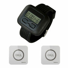 SINGCALL Wireless Service Calling Pager System, 1 Watch with 2 Touchable Bells