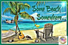 Tiki Bar Decor Sign 8x12 All Weather Metal Margaritaville Luau Beach Welcome