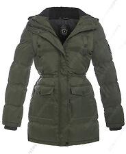 NEU Damen Parka Mantel Jacke gepolstert gesteppt schwarz Größe 8 10 12 14 16