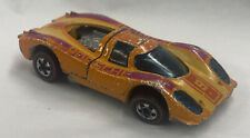ORIGINAL 1969 HOT WHEELS REDLINE PORSCHE P-917 ORANGE ENAMEL HONG KONG Red Line